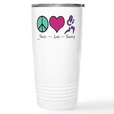 Cute Peace love running Travel Mug