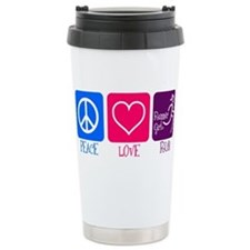 Cute Peace love running Travel Mug