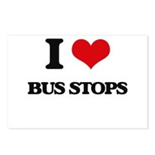I Love Bus Stops Postcards (Package of 8)
