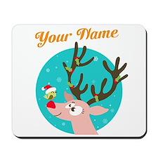 custom christmas add name Mousepad