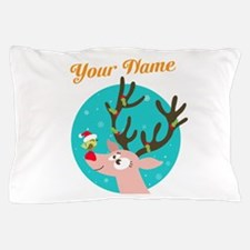 custom christmas add name Pillow Case