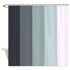Cooling Down Stripes Shower Curtain