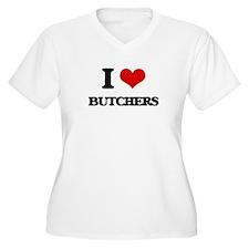 I Love Butchers Plus Size T-Shirt