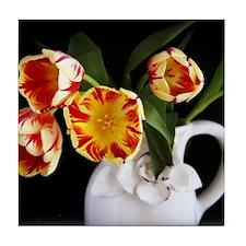 Spring Tulips Tile Coaster