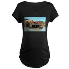 Houseboat on the Murray River, A Maternity T-Shirt