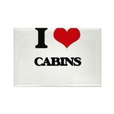 I love Cabins Magnets