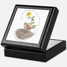 House Wren And Sunflower Keepsake Box