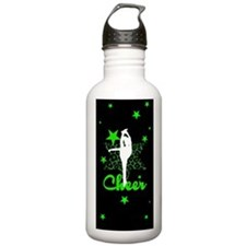 Black and Green Cheerl Water Bottle