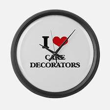 I love Cake Decorators Large Wall Clock