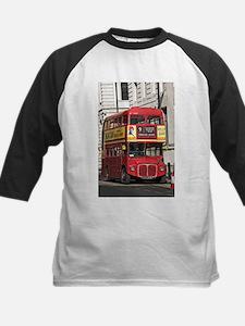 Vintage Red London Bus Baseball Jersey