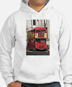 Vintage Red London Bus Hoodie