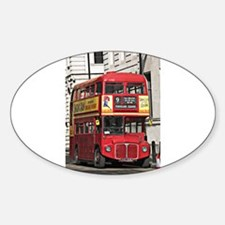 Vintage Red London Bus Decal