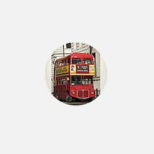 Vintage Red London Bus Mini Button