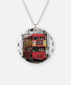 Vintage Red London Bus Necklace