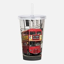 Vintage Red London Bus Acrylic Double-wall Tumbler
