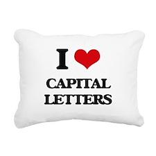 I love Capital Letters Rectangular Canvas Pillow