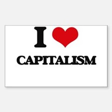 I love Capitalism Decal