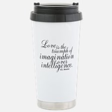 Imagination over Intelligence Travel Mug