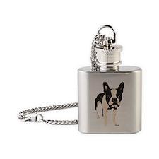 Cute Boston terrier Flask Necklace
