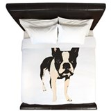 Boston terrier King Duvet Covers