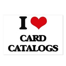 I love Card Catalogs Postcards (Package of 8)