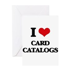 I love Card Catalogs Greeting Cards