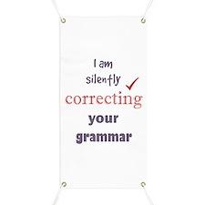 Silently Correcting Your Grammar Humor Banner