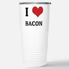 Cute I love bacon Travel Mug
