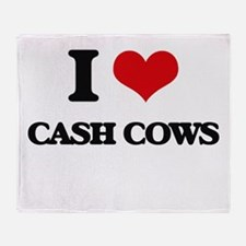 I love Cash Cows Throw Blanket