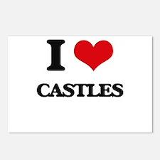 I love Castles Postcards (Package of 8)