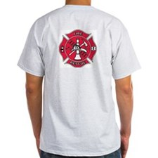 FIREMAN/ RESCUE  Grey T-Shirt
