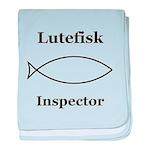 Lutefisk Inspector baby blanket