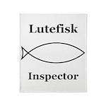 Lutefisk Inspector Throw Blanket
