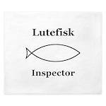 Lutefisk Inspector King Duvet