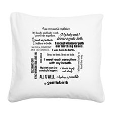 Affirmations Square Canvas Pillow