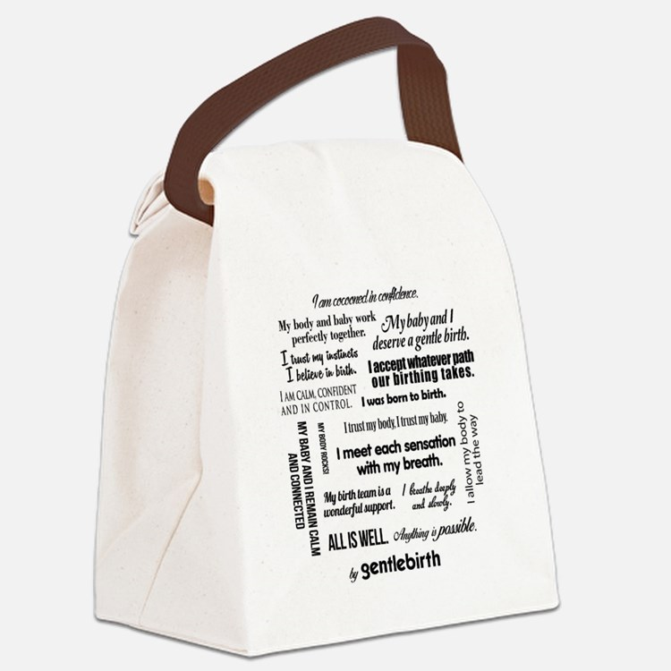 Affirmations Canvas Lunch Bag