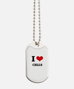 I love Cells Dog Tags