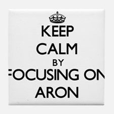 Keep Calm by focusing on on Aron Tile Coaster