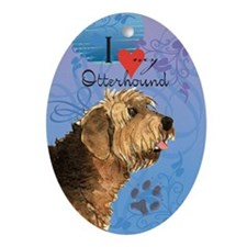 Otterhound Oval Ornament