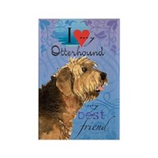 Otterhound Rectangle Magnet