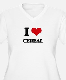 I love Cereal Plus Size T-Shirt