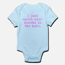 Nine Months In The Hole Body Suit