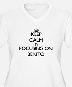 Keep Calm by focusing on on Beni Plus Size T-Shirt