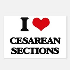 I love Cesarean Sections Postcards (Package of 8)