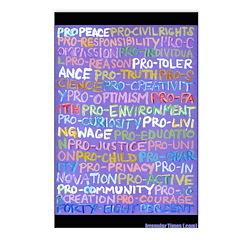 8-pack Progressive Words Postcards