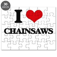 I love Chainsaws Puzzle