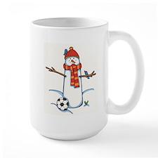 footballerSnowman.jpg Mugs