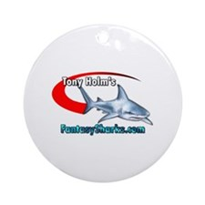 Cute Ballcap Ornament (Round)