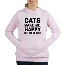 Cats make me happy Women's Hooded Sweatshirt