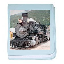Steam train engine Silverton, Colorad baby blanket